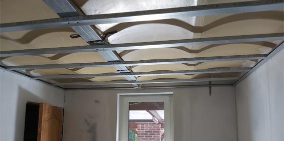Pose de plafond à Tournai